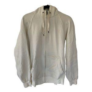 Starter Men's Cream Full Zip Hooded Sweatshirt